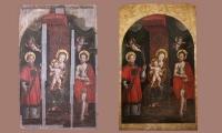 Scuola vercellese - Madonna col Bambino tra i Santi Vincenzo Martire e Giovanni Battista
